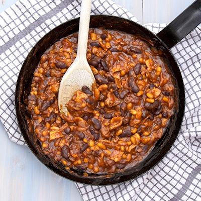 texan smoke pit beans
