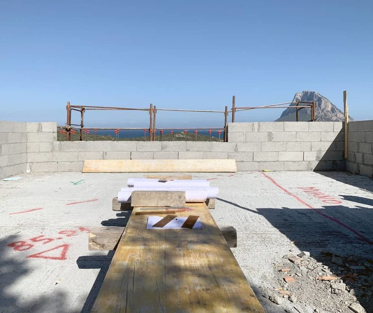 The new rooftop terrace. Construction site of...