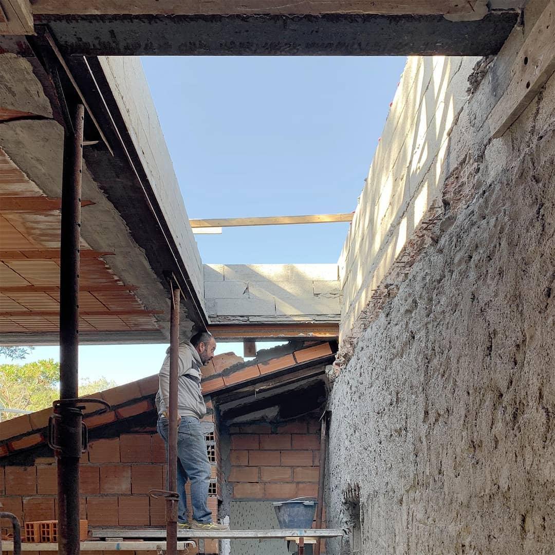 The skylight. Construction site of #villatavolara. #gosplanarchitects…