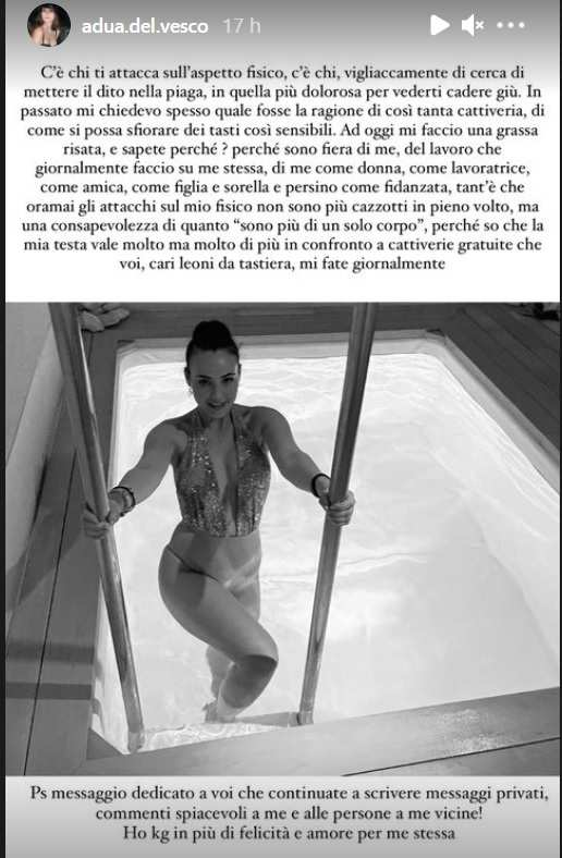 Rosalinda Cannavò, peso