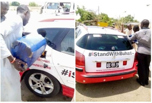 IStandWithBuhari Group Caught Buying Fuel From Black Market (Photos)