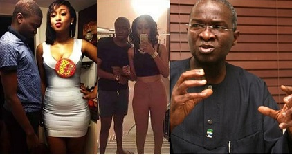 Photos: See Fashola's Son And His Half Caste Girlfriend Suffering And Dying Of Heat