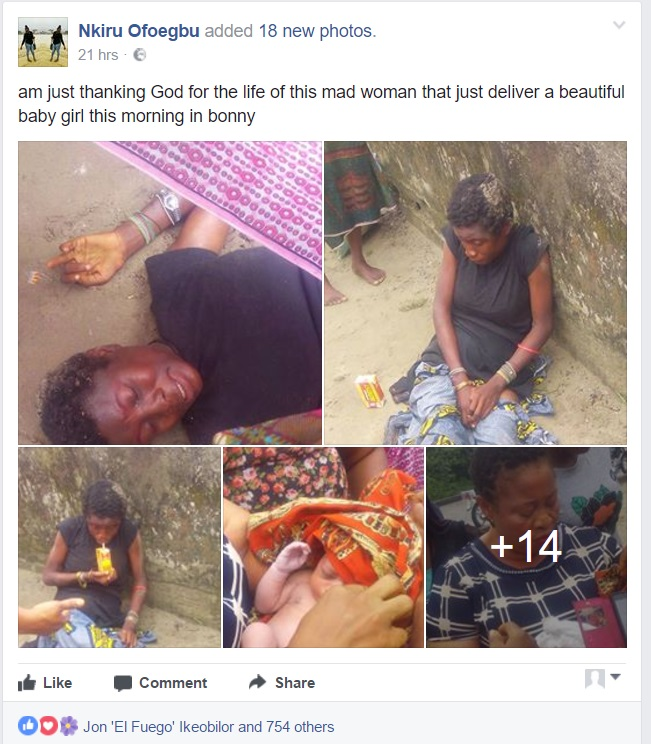 nki - Mentally Challenged Woman Delivers A Beautiful Baby Girl In Rivers State