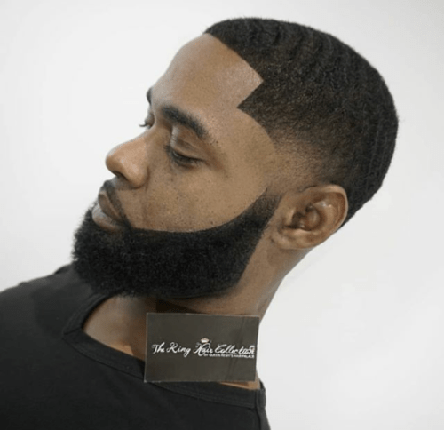 fbeard3 500x484 - Beardless Men Are Now Fixing Artificial Beards Just So They Can Form Beard Gang