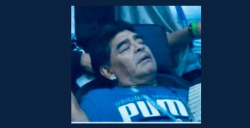 marado10 500x256 - Argentina Legend Maradona Gives Nigeria The Middle Finger After Their Loss Time Goal (Video)