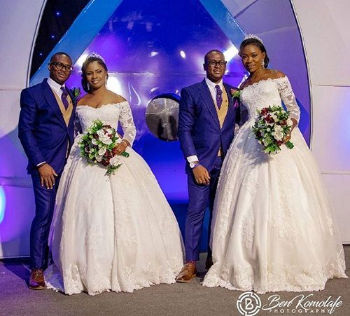 twnz1 500x451 - PHOTOS: Handsome Twin Brothers Who Married Two Best Friends On The Same Day