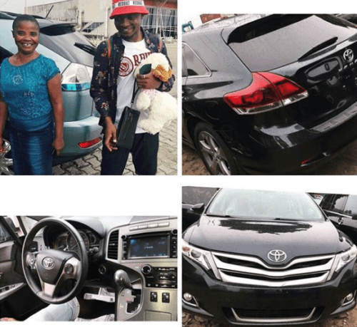 vnz5 500x459 - Nigerian Man Finally Fulfills His Dream, He Buys A Toyota Venza For His Old  Mother (See Photos)