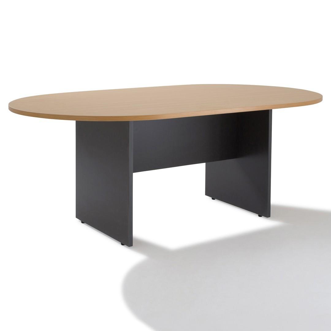table de reunion ovale pietement bois