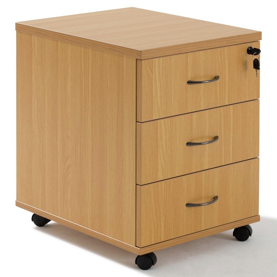 caisson de bureau a roulettes en bois