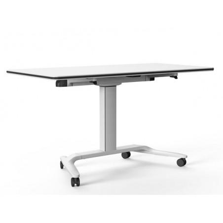table reglable en hauteur avec tableau ecritoir sur roulettes talent 500