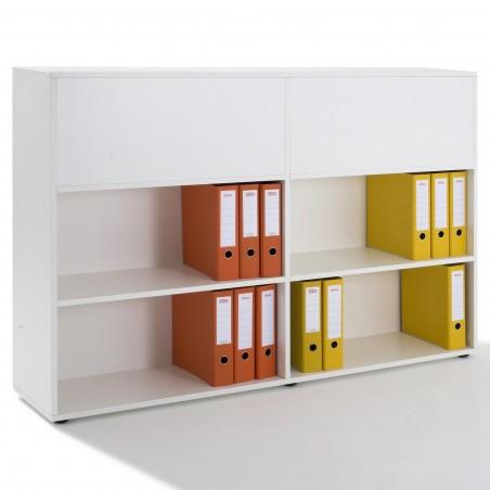 armoire etagere double acces recto verso h 109xl 160x p 34cm