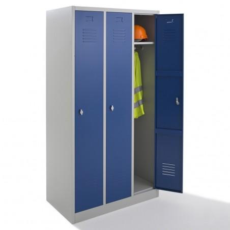 vestiaire propre monobloc 3 cases