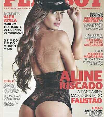 Aline Riscado Nua Playboy