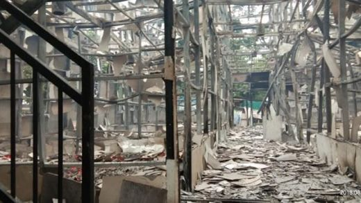 Hangus Terbakar, Penginapan di Pulau Sirandah Padang Tinggal Puing