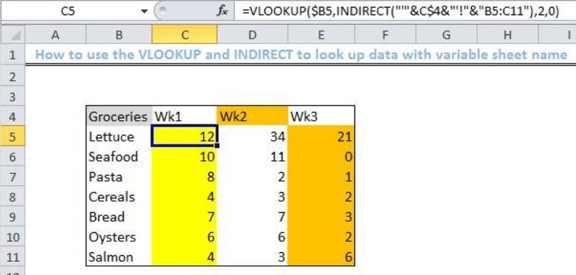 How To Lookup With Variable Sheet Name Excelchat