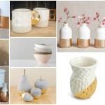Adorable Gold Dipped Ceramics That You Can Do At Home Garden Ideas Outdoor Decor