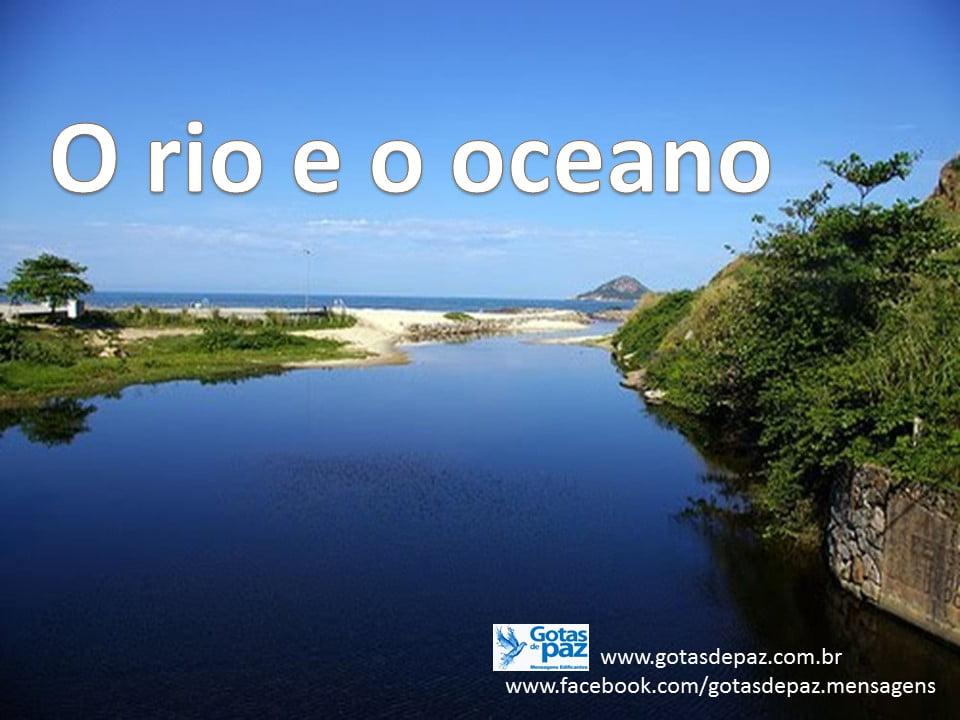 O rio e o oceano