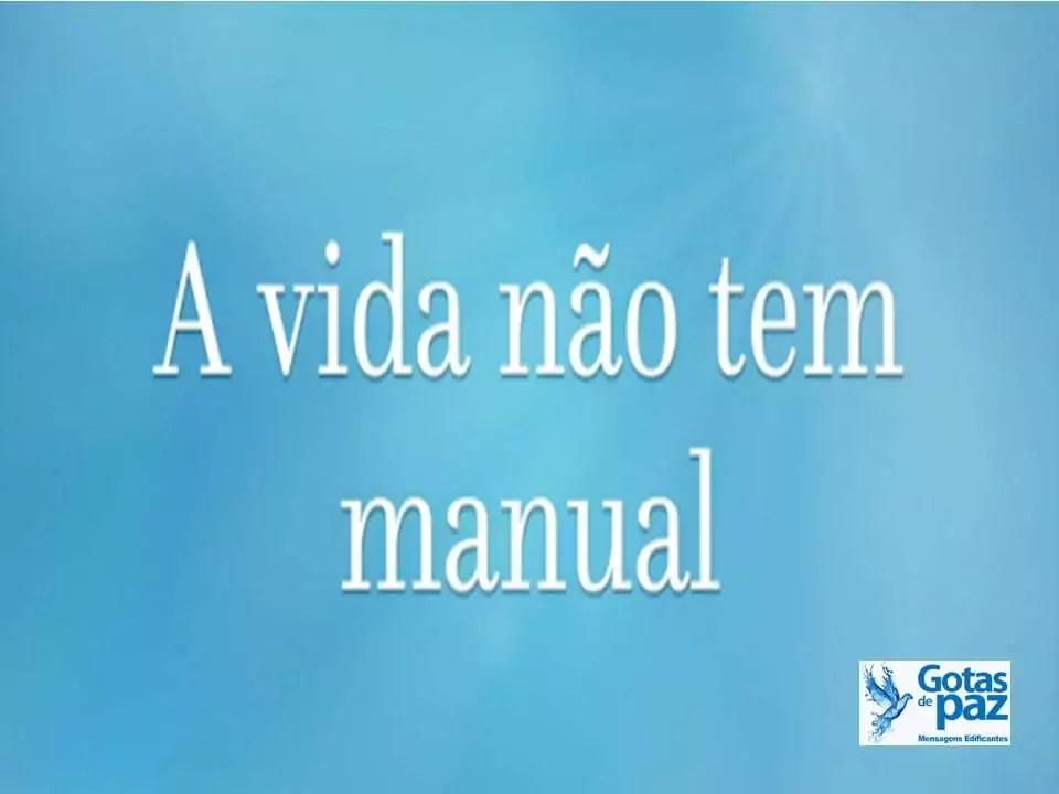 A vida não tem manual