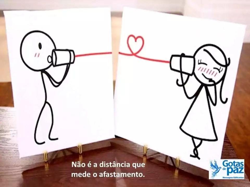 Não é a distância que mede o afastamento.