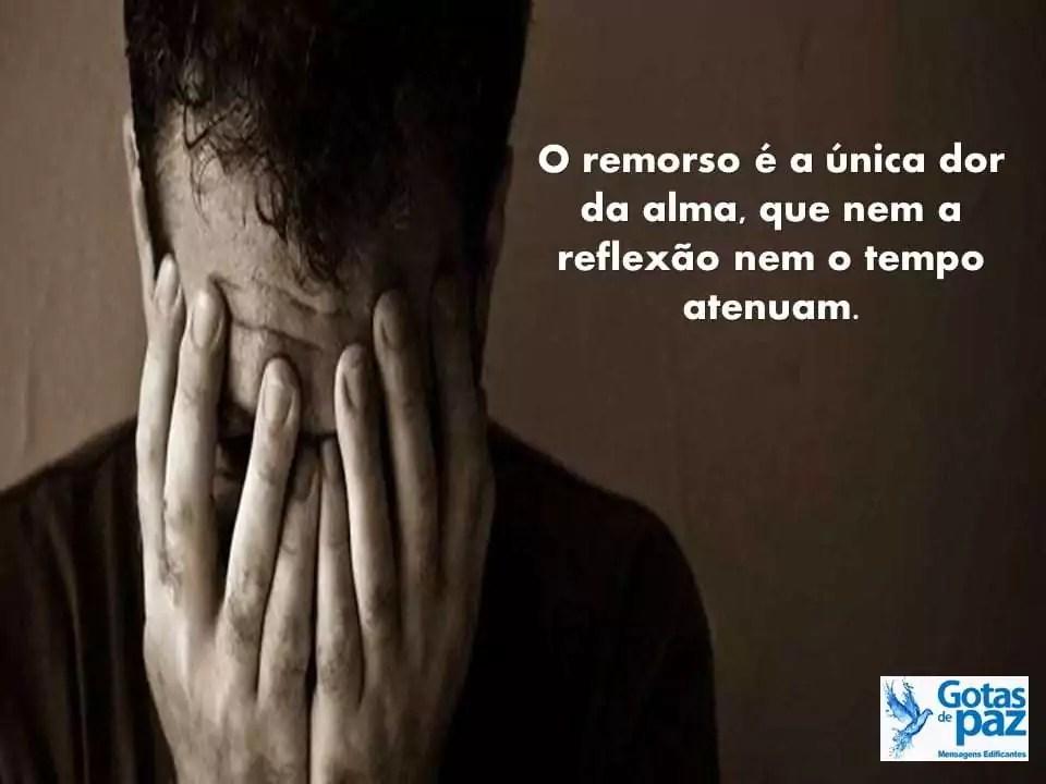 O remorso é a única dor da alma, que nem a reflexão nem o tempo atenuam.