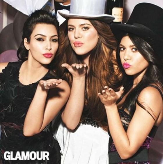 Kim, Kourtney and Khloe Kardashian - Glamour Magazine-11 ...