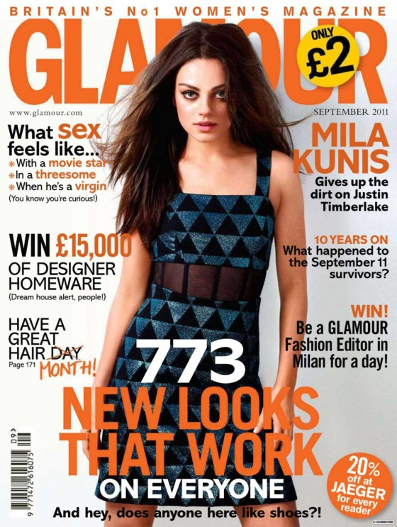 Mila Kunis – Glamour Magazine UK (September 2011)