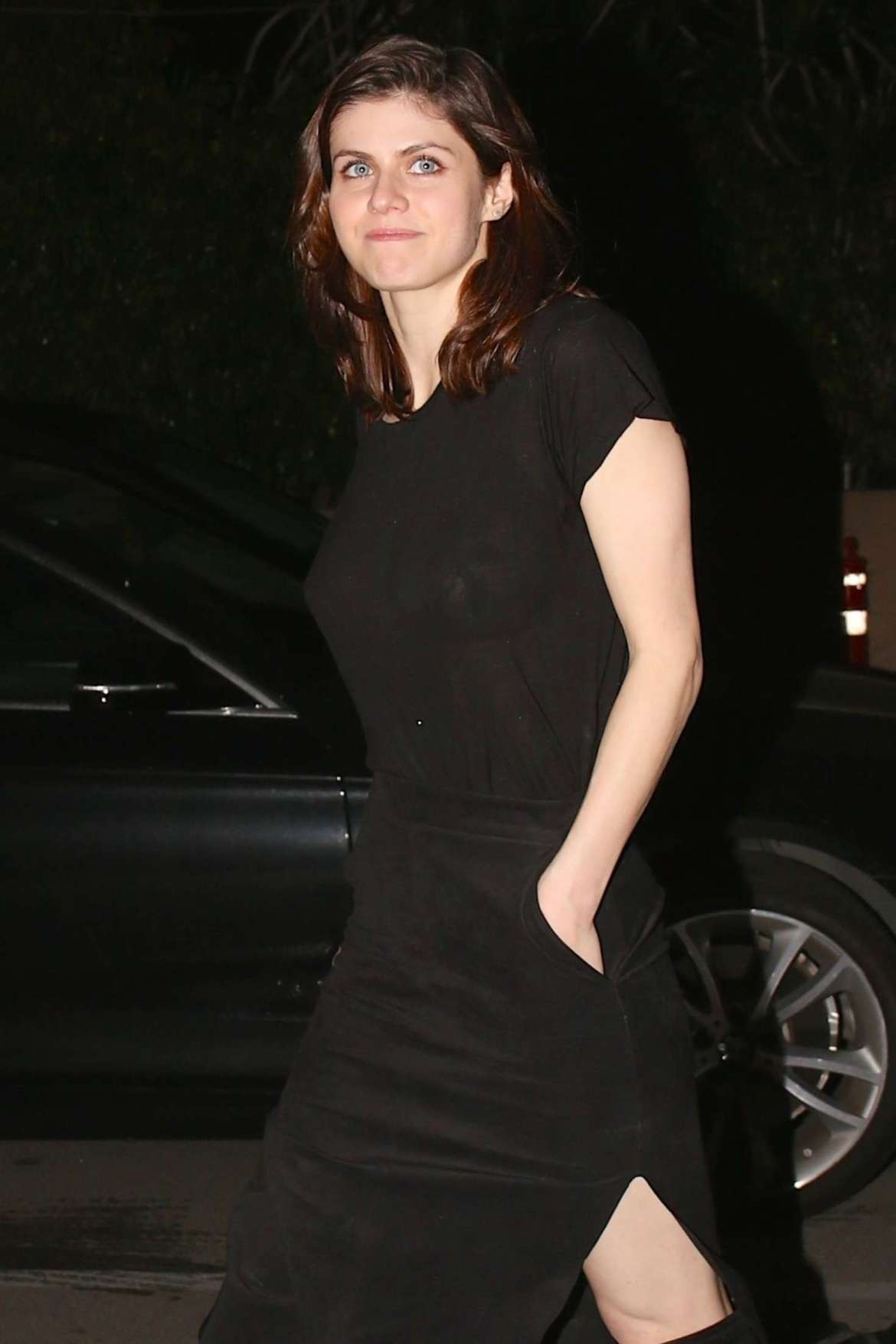 Alexandra Daddario at Matsuhisa Sushi Restaurant in Beverly Hills