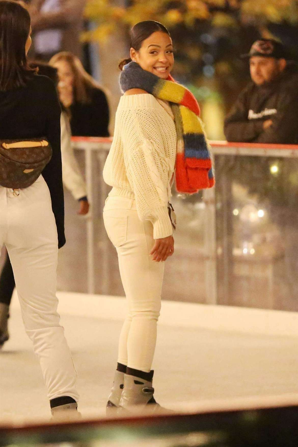 Christina Millian – Ice skating at Larsa Pippens Party in Los Angeles