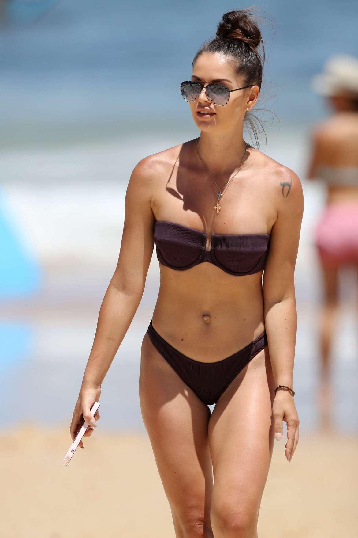 Dasha Gaivoronski in Bikini at the beach in Bondi