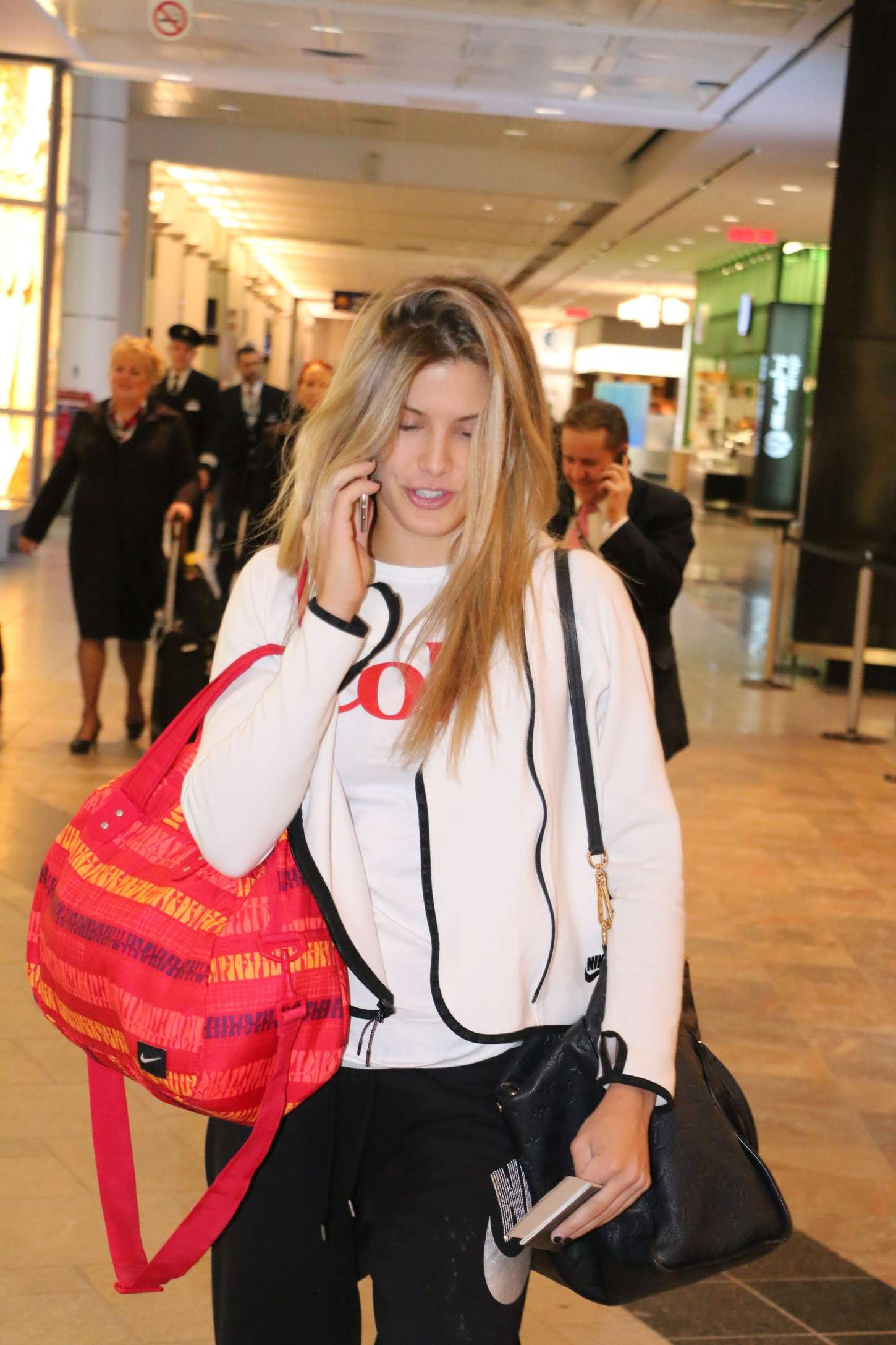 Eugenie Bouchard Leaving Montreal Airport