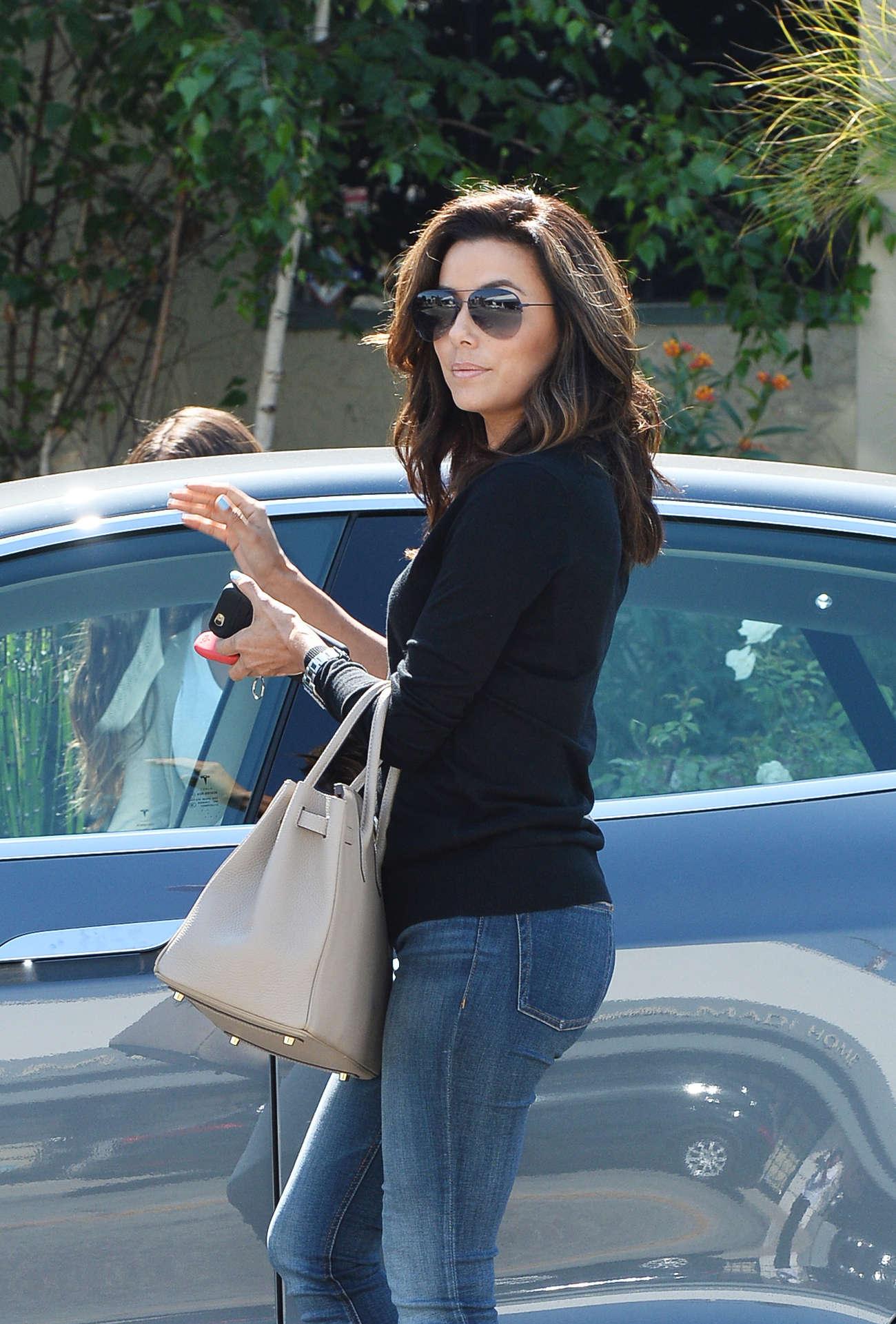 Eva Longoria In Jeans Leaving Ken Paves Salon In West