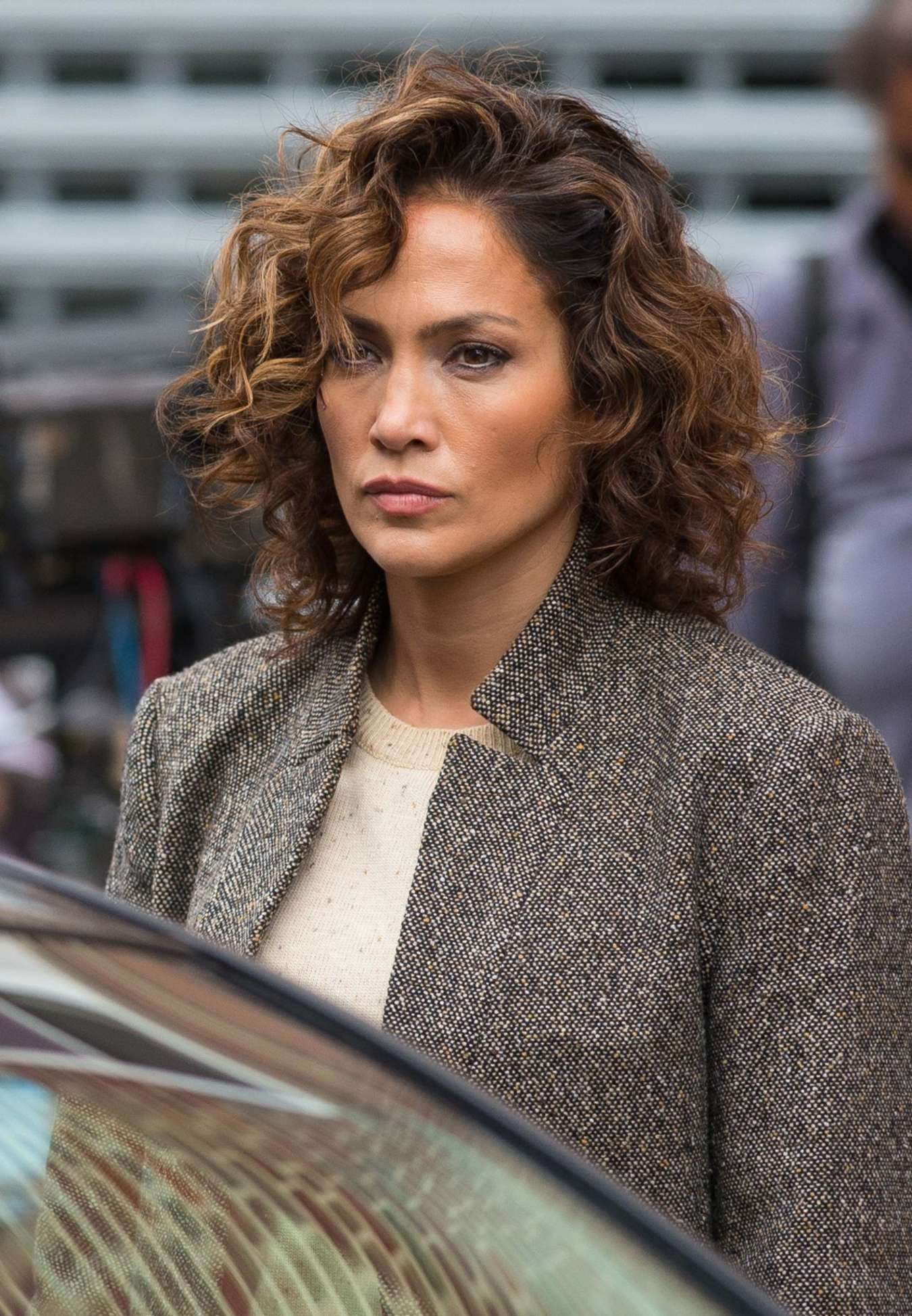 Jennifer Lopez On The Set Of Shades Of Blue In NYC