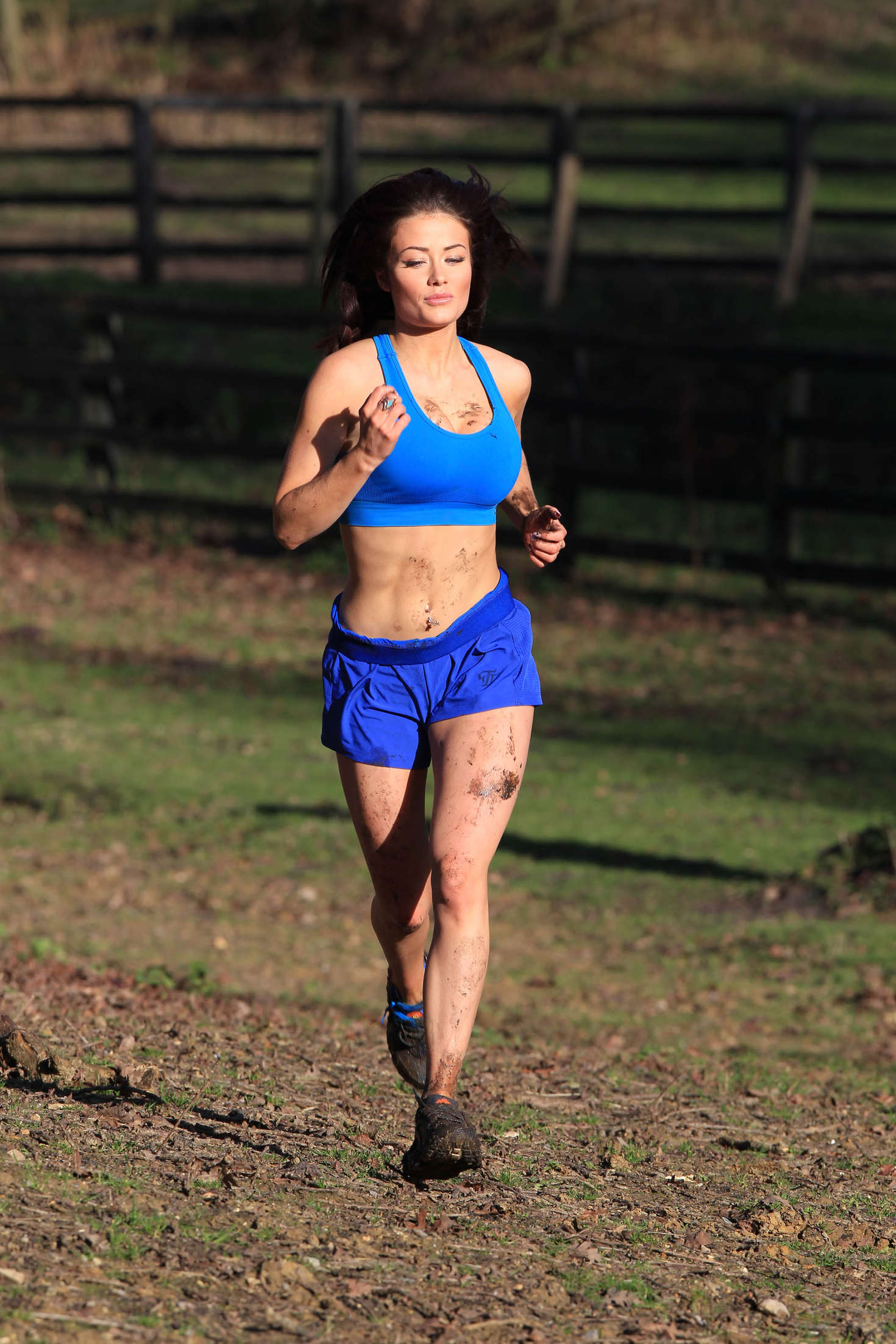 Jess Impiazzi In Blue Shorts And Sports Bra 04 GotCeleb