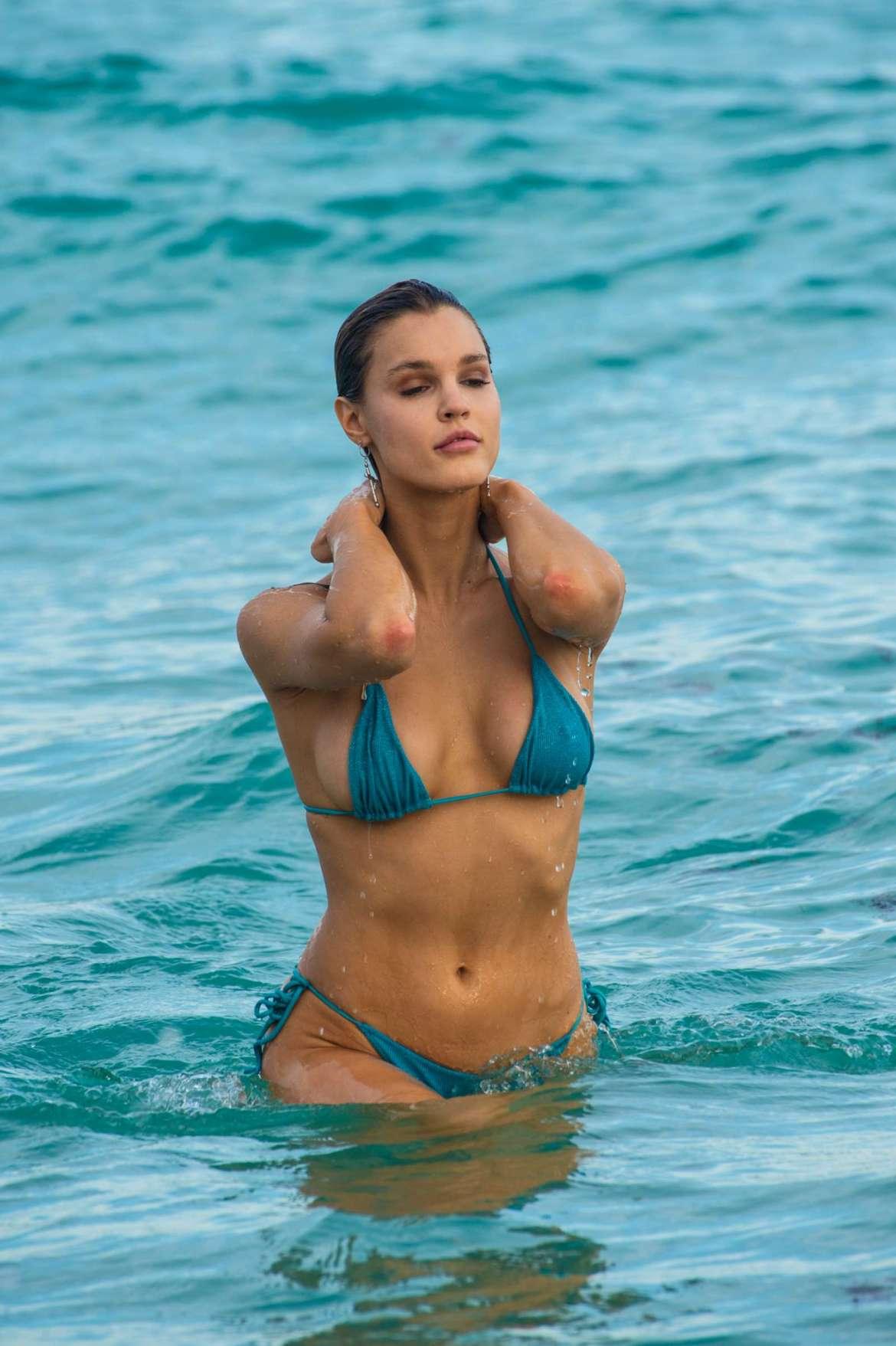 Joy Corrigan in Bikini on the beach in Miami