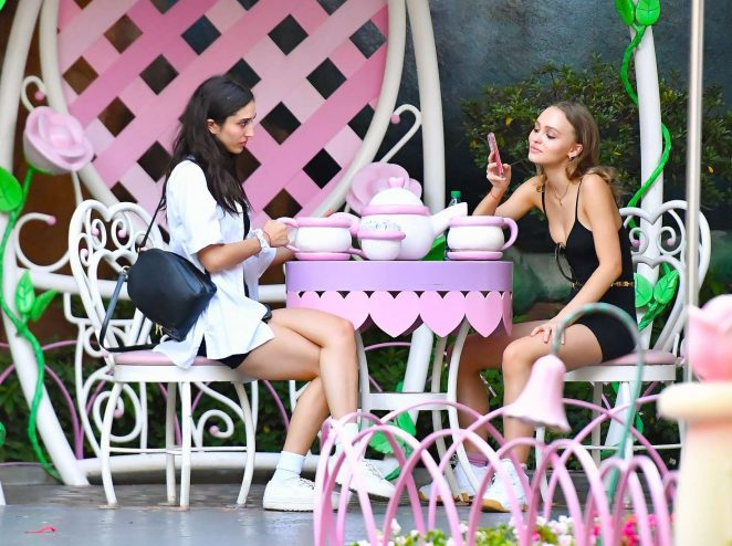 Lily Rose Depp at Disneyland in Los Angeles -05