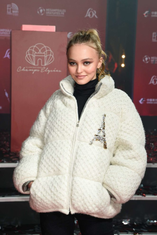 Lily Rose Depp - Champs Elysees Christmas Lights Launch in Paris