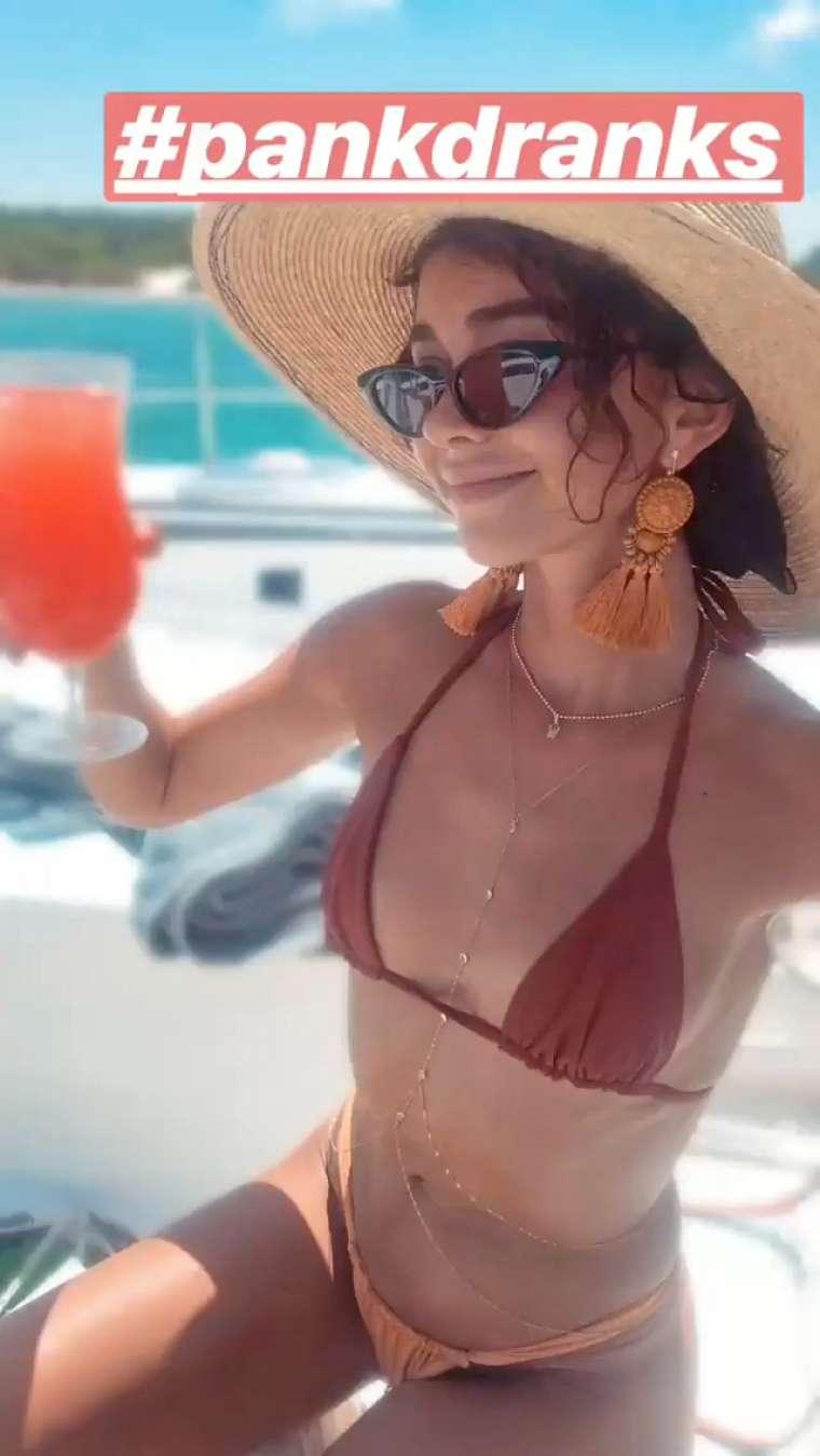Sarah Hyland In Bikini Social Media Pics GotCeleb
