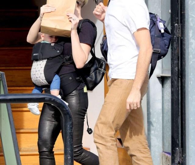 Scarlett Johansson Booty In Leather