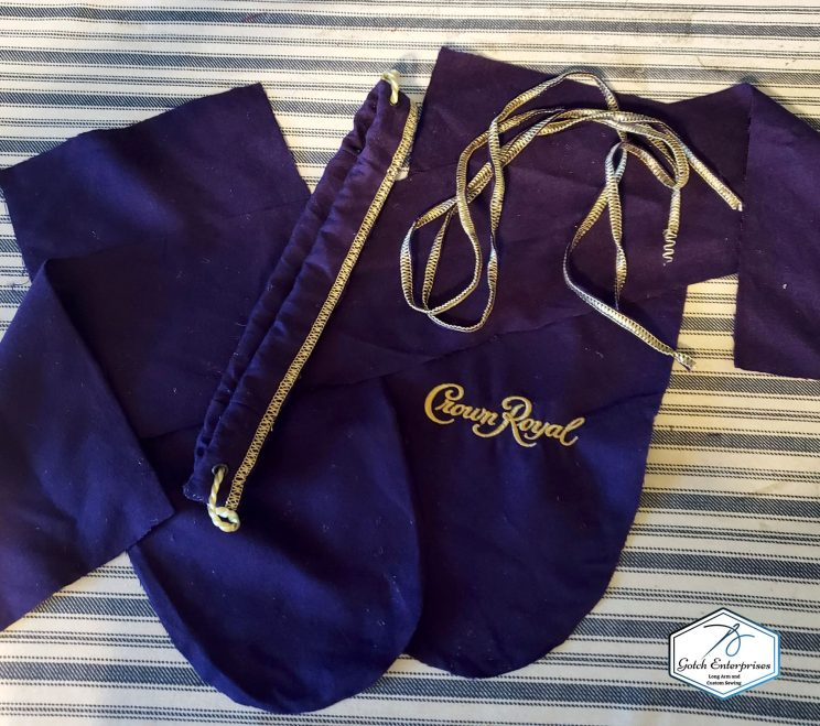 Crown Royal Bag apart