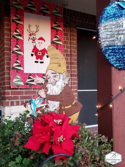 Santa Banner On Display