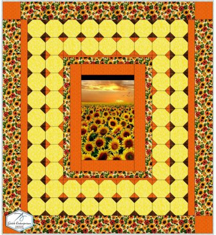 Debbie's Sunflowers EQ8