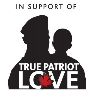 In Canada, we are raising awareness and support for True Patriot Love.