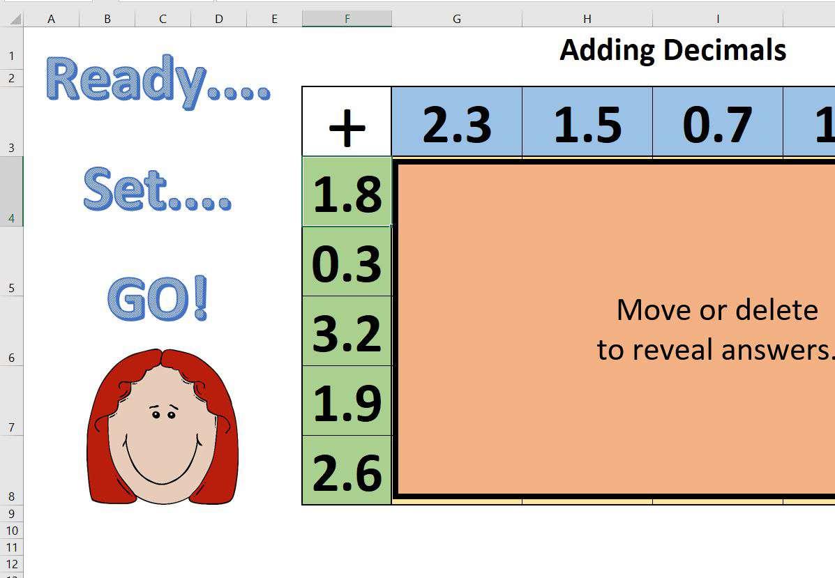 Adding 1 Digit Decimals