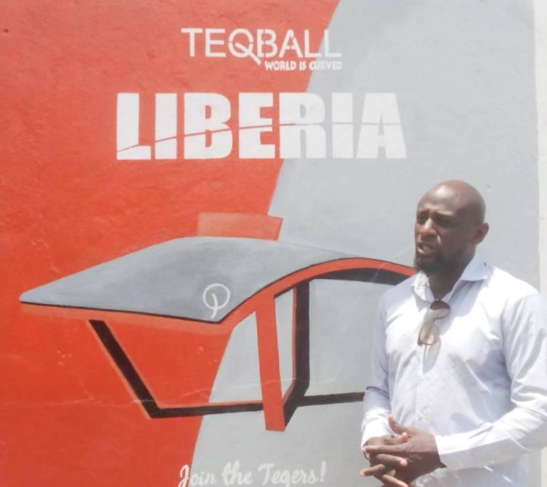 teqball mural in Liberia.