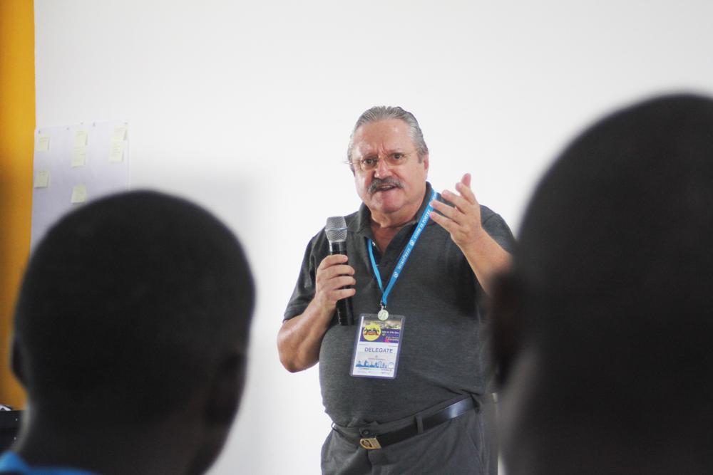 Prof Wolfgang of ATC News @ wordcamp kampala