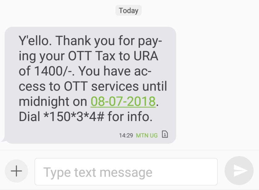 Paying Social Media Tax Fee (OTT) Step 5