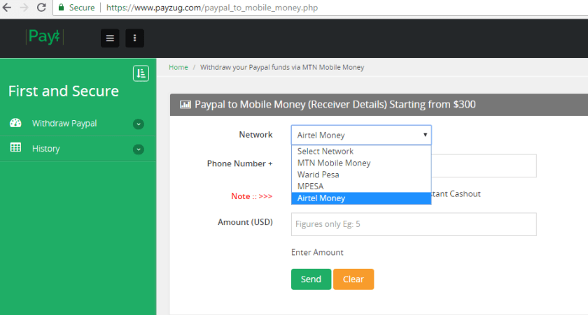 payzug.com paypal to mobile money