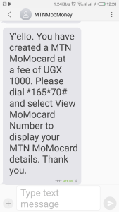 momocard confirmation