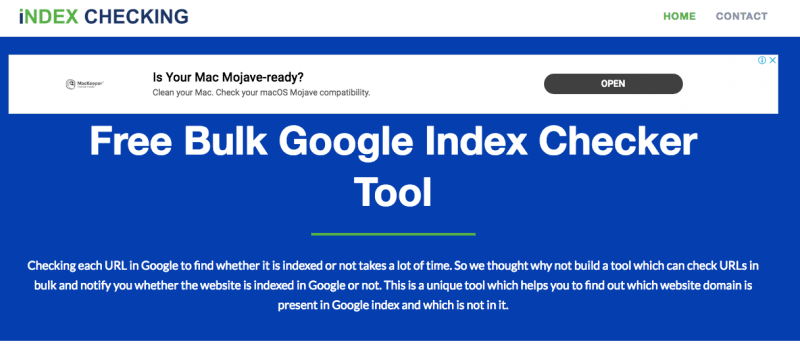 indexing checker