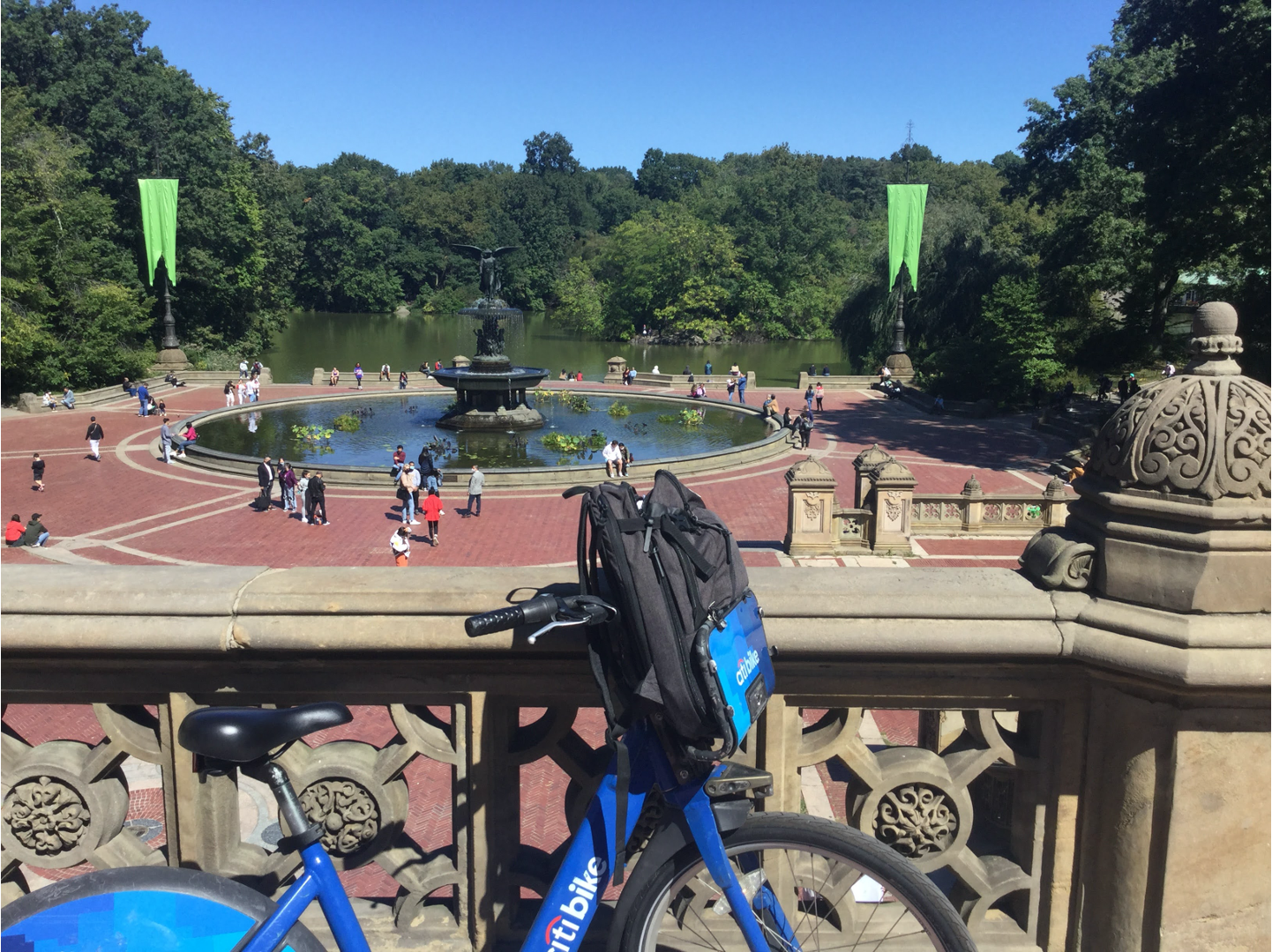 Bethesda Fountain and Bicycle